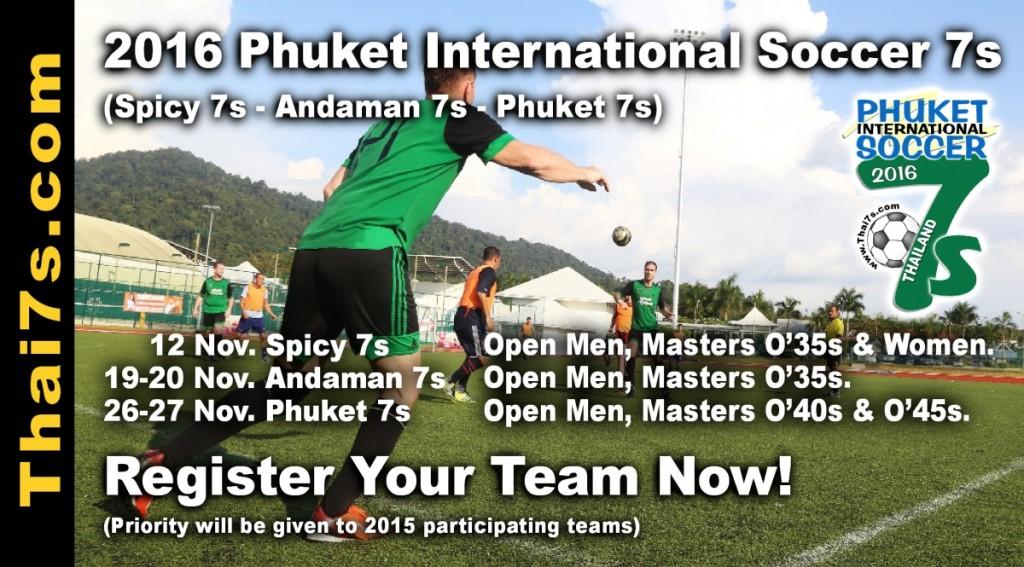 2016 Phuket Soccer 7s tournament banner