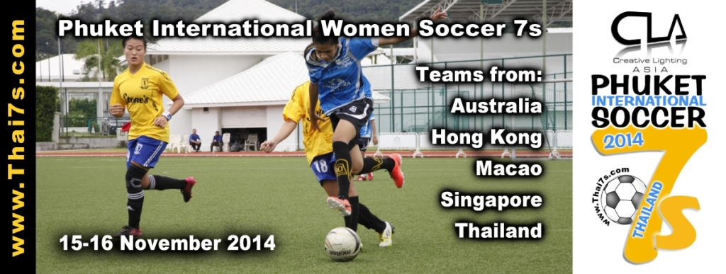 Creative Lighting Asia (CLA) Title Sponsor 2014 Phuket International Women Soccer 7s