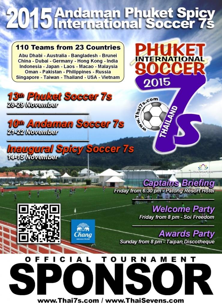 2015 Phuket Soccer 7s Official Poster Sponsors